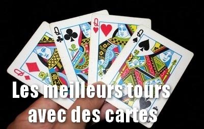 Les meilleurs tours avec des cartes à jouer